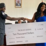 Actress Yvonne Okoro presents $10,000 cheque to Black Queens