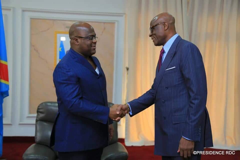 Constant Omari also greets President Tshisekedi