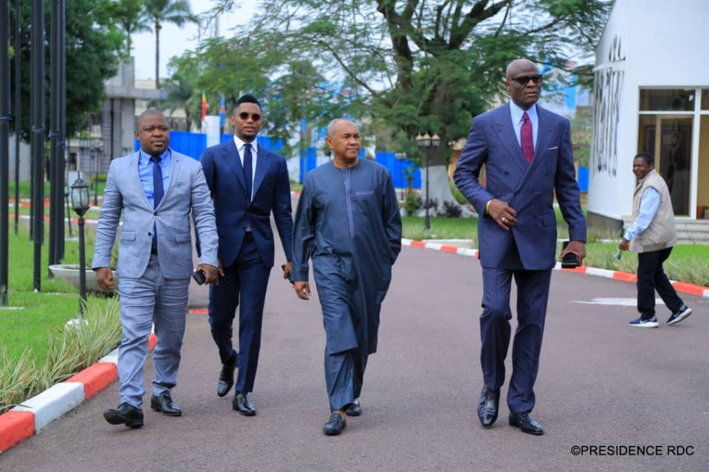 African football delegation visiting the DR Congo presidential palace