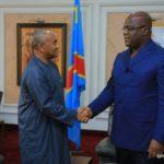 CAF President Ahmad visits DR Congo leader Tshisekedi with Etoó