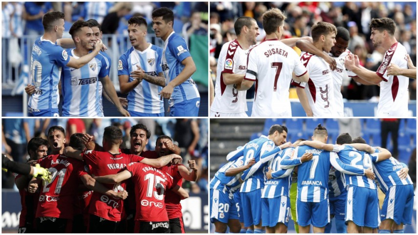 The four teams battling it out for a LaLiga Santander promotion spot