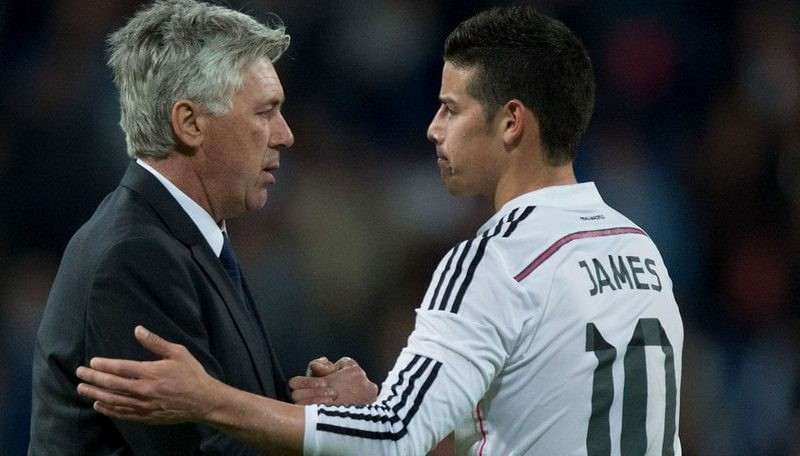 James Rodriguez keen to reunite with Ancelotti at Napoli
