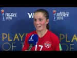 Jessie Fleming – Player of the Match – Canada v New Zealand