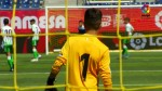 The LaLiga Promises action as seen from between the sticks