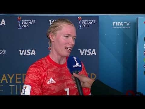 Hedvig Lindahl – Player of the Match – Sweden v Canada