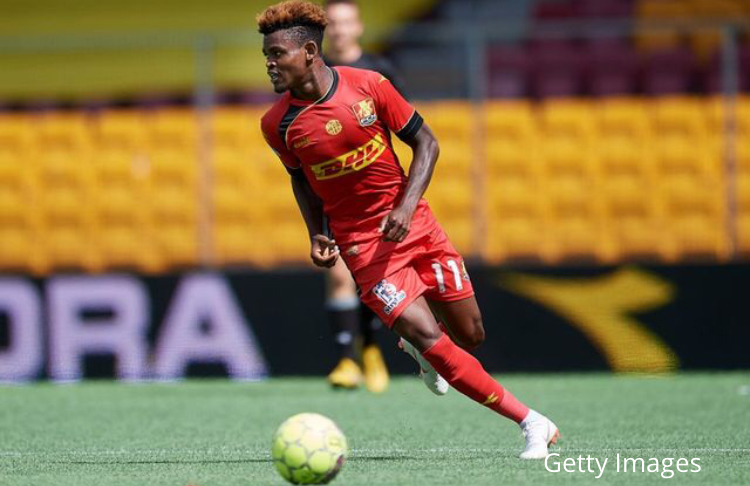 Godsway Donyoh scores hat-trick for FC Nordsjaelland in pre-season defeat to Kalmar FF
