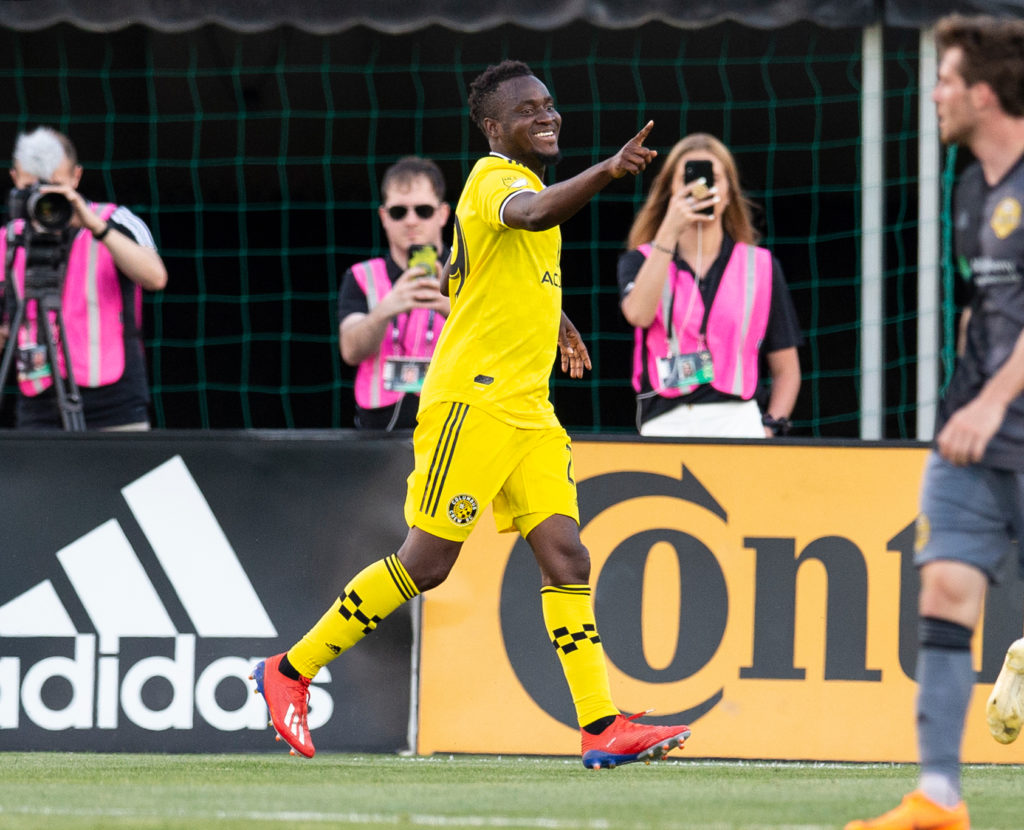 VIDEO: David Accam reacts to scoring first goal for Columbus Crew