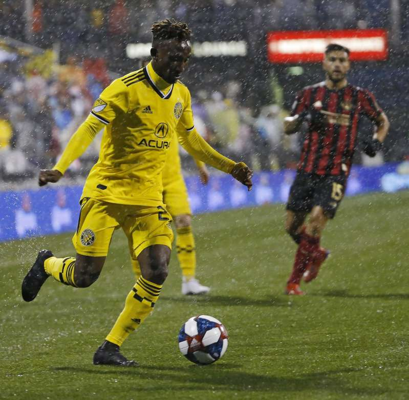 Harrison Afful returns to the pitch for Columbus Crew after NINE weeks out injured