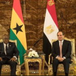 Nana Akufo-Addo arrives in Egypt to watch Ghana-Benin game