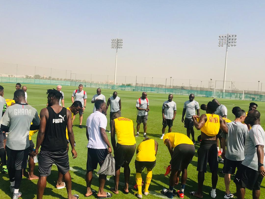 PHOTOS: Black Stars intensify training ahead of South Africa friendly