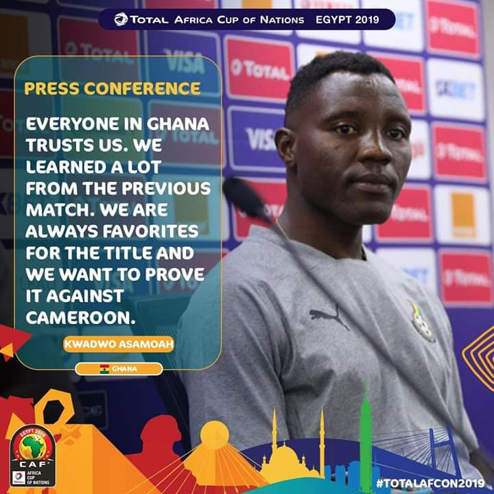2019 Africa Cup of Nations: We are going to prove to Cameroon why we are always favorites for the title- Asamoah