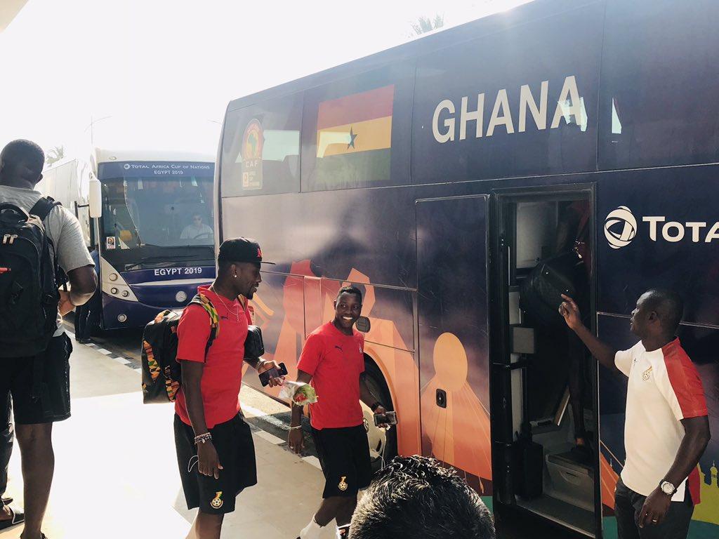 PHOTOS: Black Stars leave Ismailia to Suez for crucial Guinea-Bissau clash on Tuesday