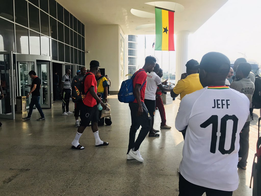 VIDEO: Black Stars arrive after early AFCON exit