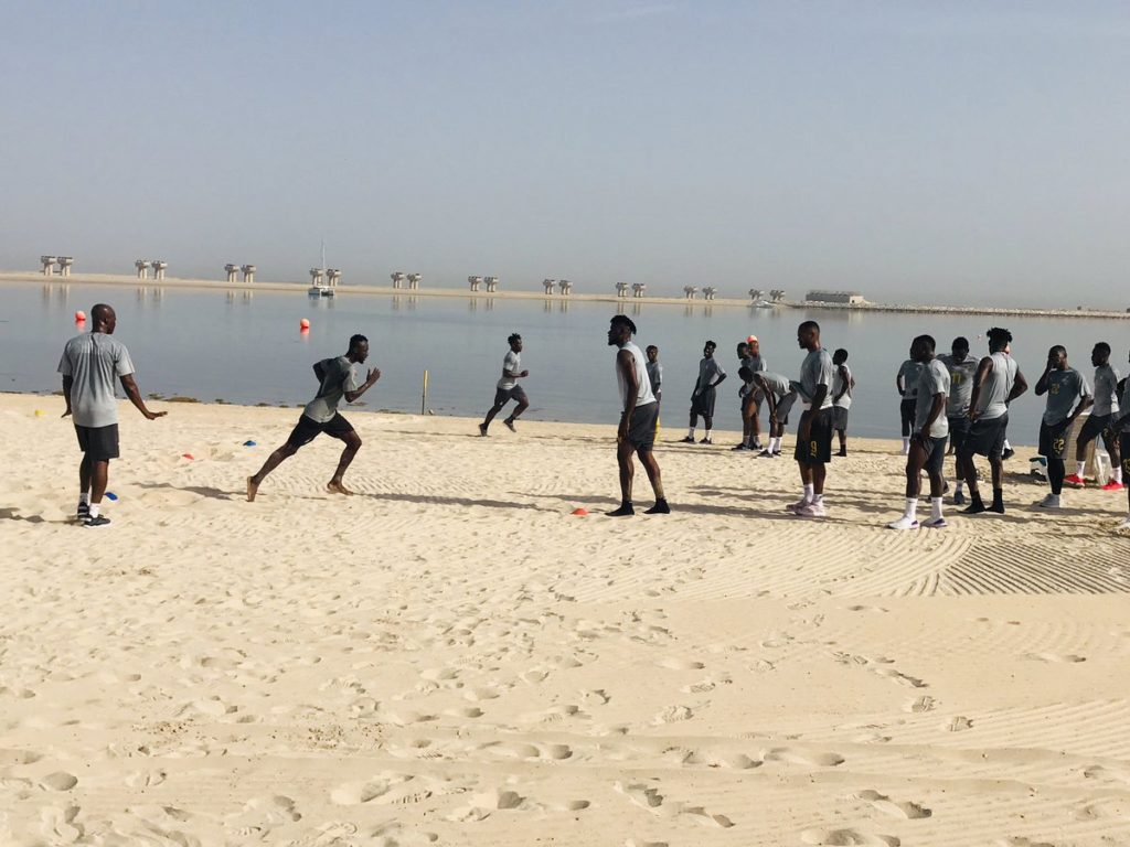 VIDEO: Ghana's 2019 Africa Cup of Nations squad step up with beach and gym works
