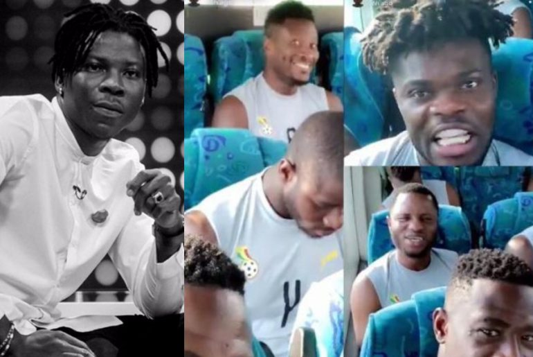 Video: Black Stars players jam to Stonebwoy's 'Mightylele' track