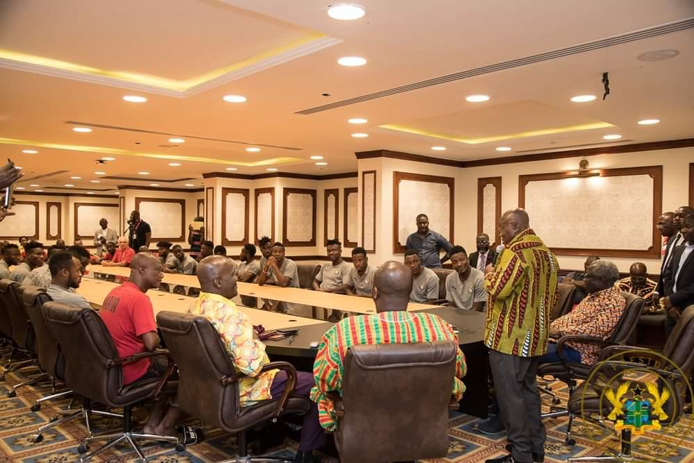 PHOTOS: 2019 Africa Cup of Nations - President Nana Addo holds brief discussion with Black Stars ahead of Benin showdown