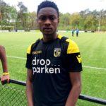 Ex-Ghana U17 defender Abdul Razak Yusif scores for Vitesse Arnhem against Tottenham in Terborg youth tourney