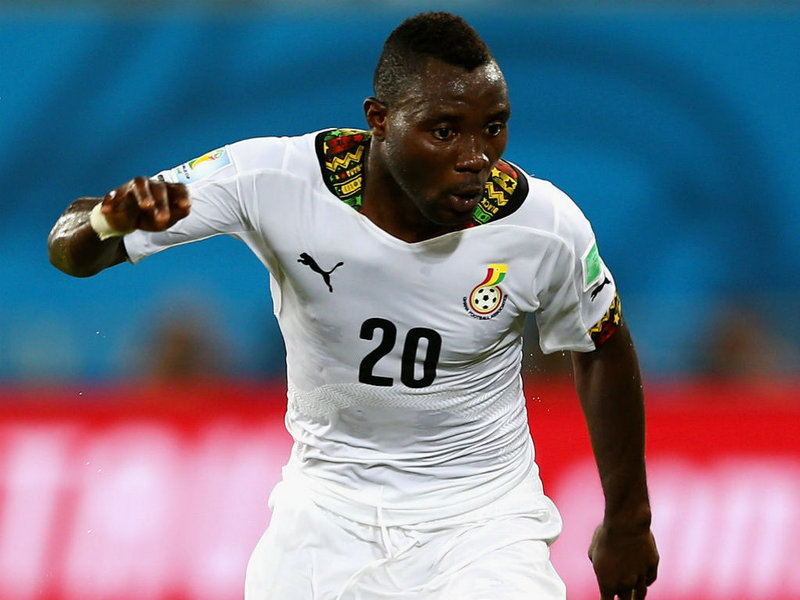 Kwadwo Asamoah to be deployed in midfield at the AFCON