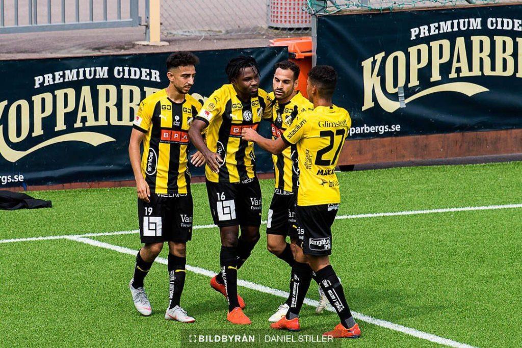 Ghanaian forward Kwame Kiziti scores in BK Hacken\'s preseason friendly draw against Vendsyssel