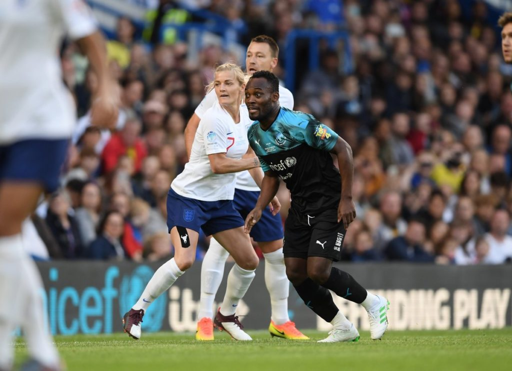 Michael Essien features as World XI beat England XI in charity match