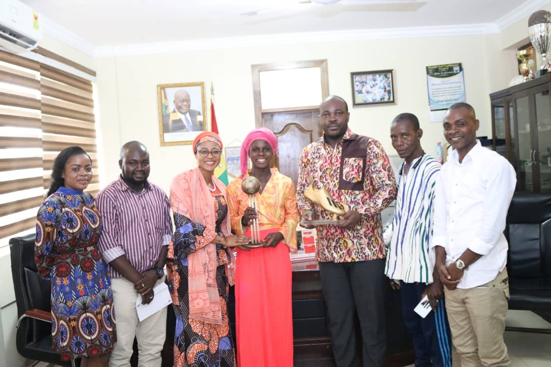 Black Maidens forward Abdulai Mukarama expresses gratitude to Sports Ministry for GHC 30K reward