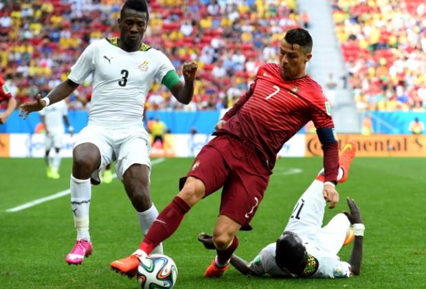 Cristiano Ronaldo breaks Asamoah Gyan's record at major international tournaments