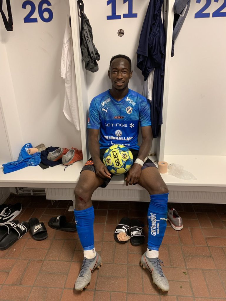 Ghanaian forward Karim Sadat bags a hat-trick as Hamstalds BK thrashed IK Frej in Sweden