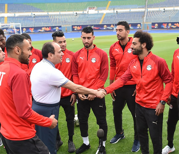 2019 Africa Cup of Nations: Egypt President Sisi visits Pharaohs ahead of Afcon kick off