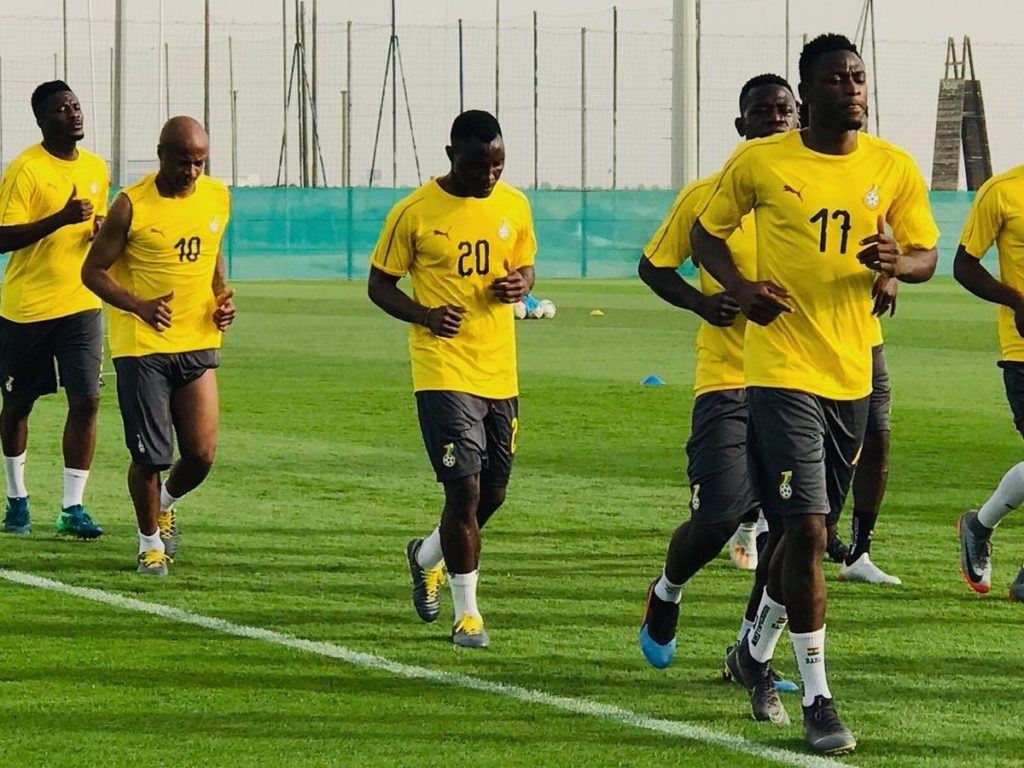 VIDEO: Black Stars having fun in training ahead of busy schedule in Dubai
