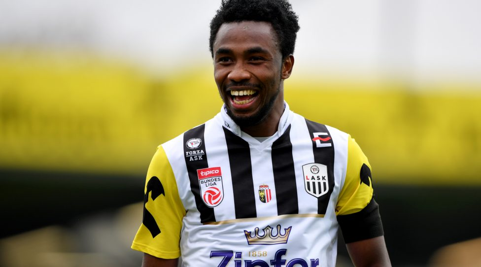Striker Samuel Tetteh scores for LASK Linz in 10-0 pre-season friendly
