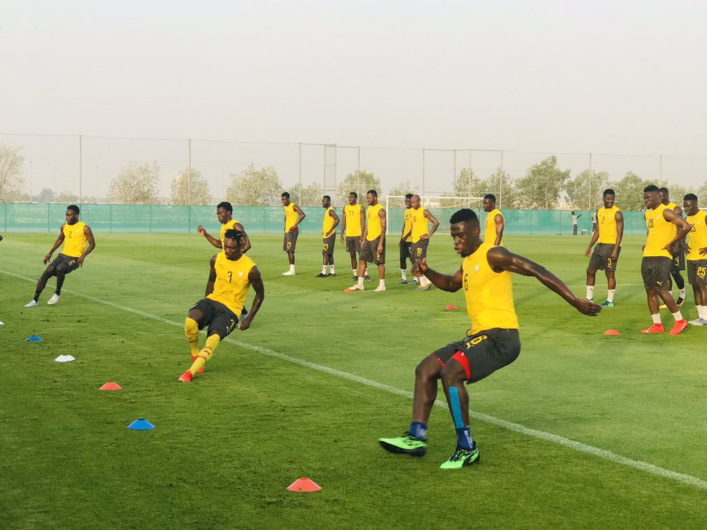 VIDEO: Black Stars hold final training session ahead of Tunisia game