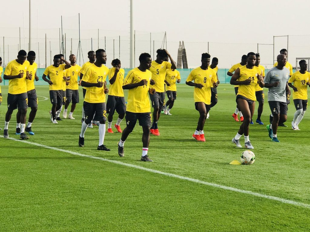 2019 Africa Cup of Nations: Midfield duo Mubarak Wakaso and Afriyie Acquah train with Black Stars in Dubai on Tuesday