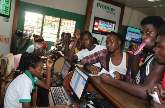 European football games have attracted the largest bets from Ghanaians and there's danger