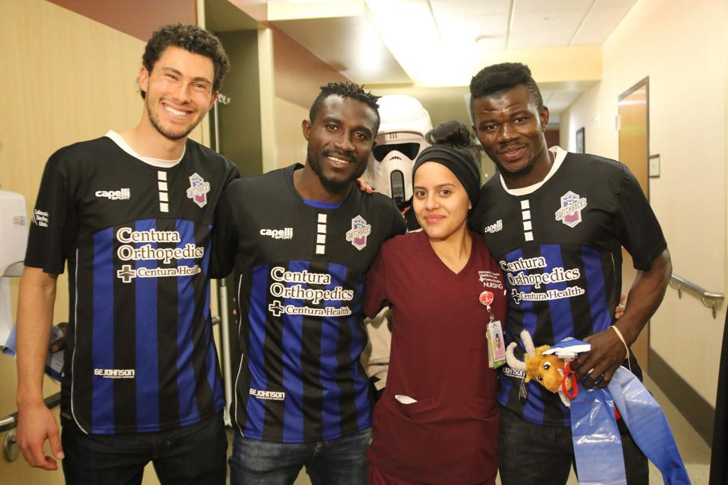 PHOTOS: Switchbacks pair Yaro and Donsu visit St. Francis Medical Centre in US