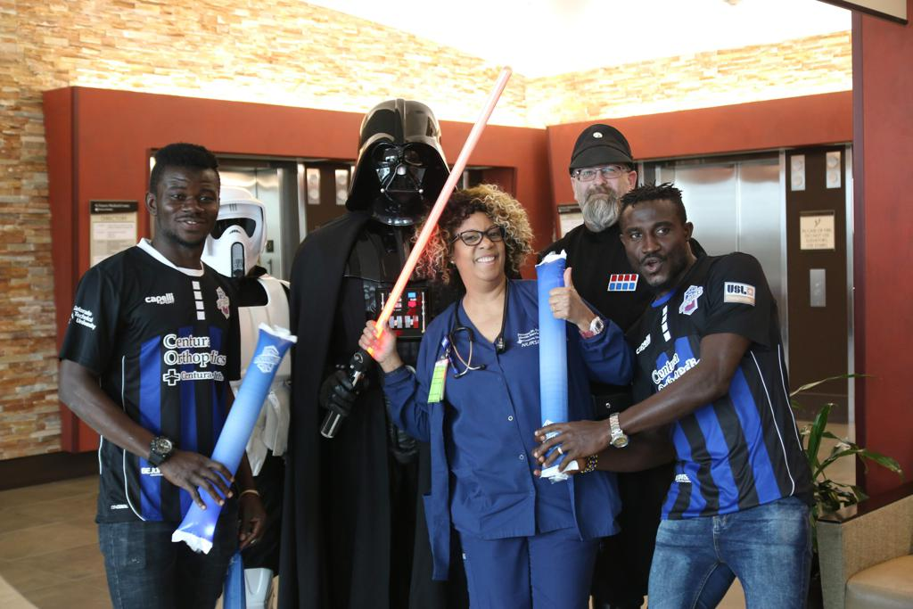 VIDEO: Former Medeama stars Kwasi Donsu and Ibrahim Yaro spread smiles at St Francis Medical Center in USA