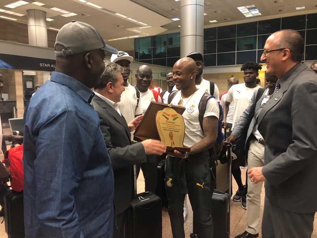 PHOTOS: Black Stars arrive in Egypt ahead of AFCON opener