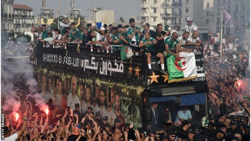 2019 Africa Cup of Nations: Champions Algeria welcomed by hundreds of thousands of supporters