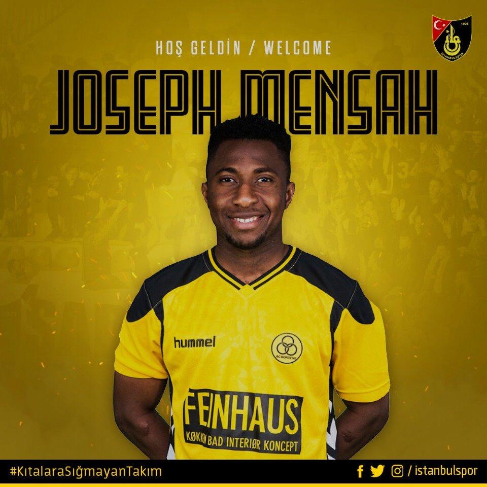 Joseph Mensah keen to succeed at Turkish club Istanbulspor