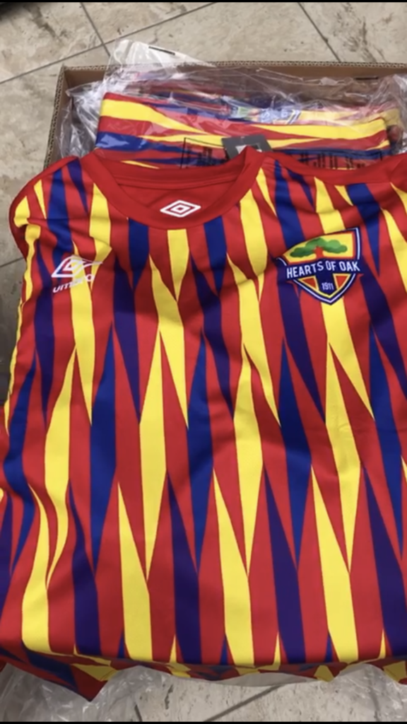 VIDEO: Hearts of Oak Umbro Jersey