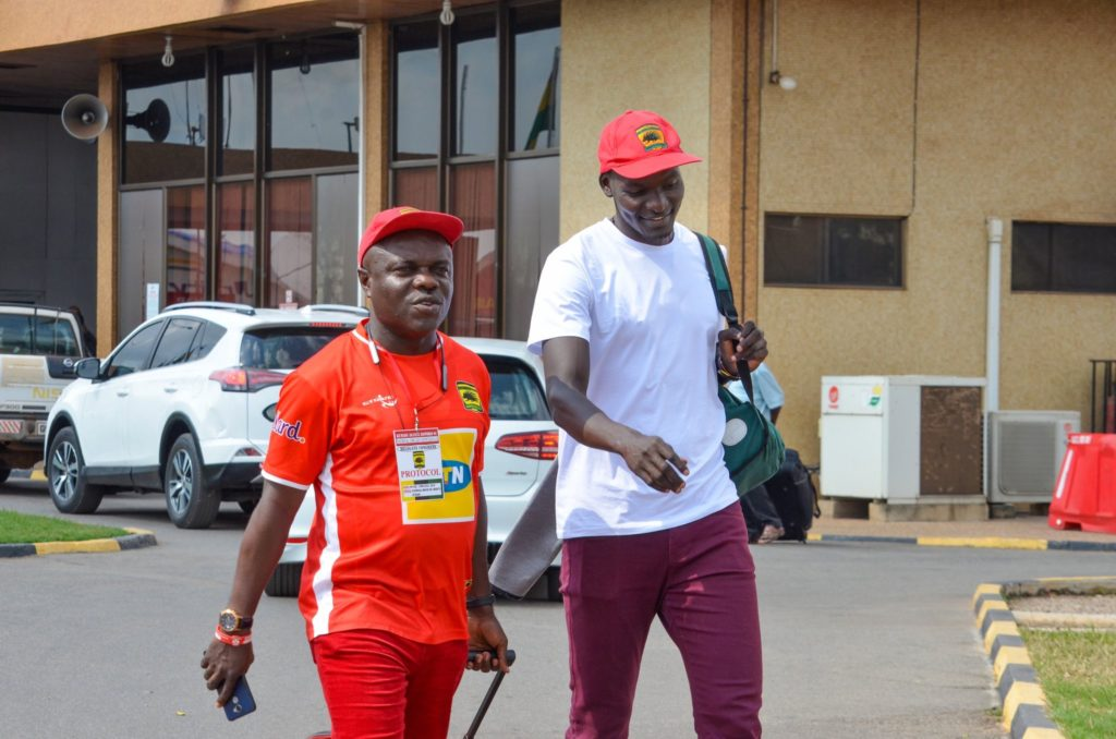 Ugandan forward George Abege arrives in Ghana after completing Kotoko move