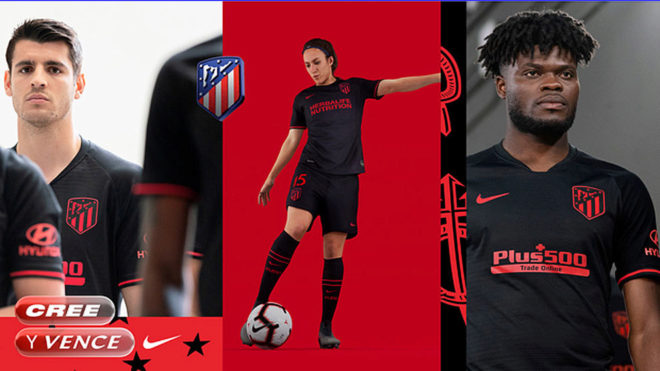 Manchester United-target Thomas Partey models in Atlético Madrid new away shirt