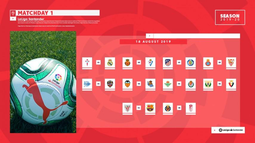 The fixture list for LaLiga Santander 2018/2019