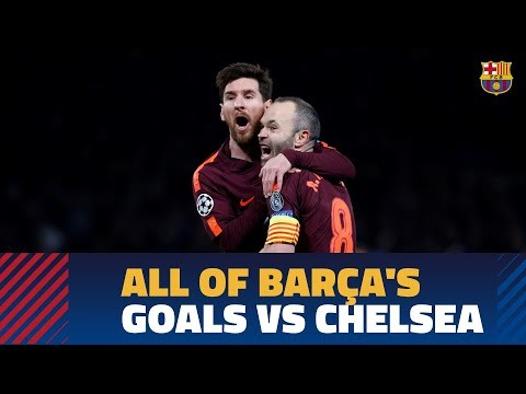 Every single Barça goal against Chelsea
