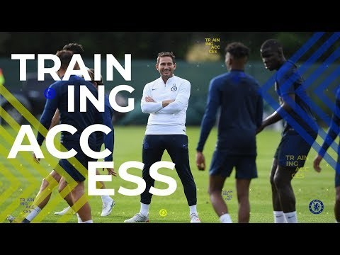 Frank Lampard's First Training Session As Chelsea Head Coach👀