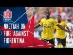 Eddie Nketiah can't stop scoring! | Fiorentina 0-3 Arsenal - International Champions Cup highlights