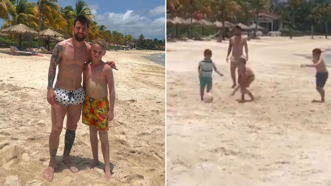 Toe Poke Daily: Kid has beach kickabout with Lionel Messi. Best. Vacation. Ever.