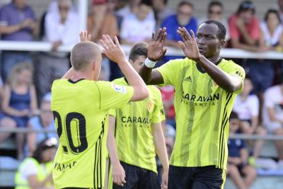 Debut delight as Raphael Dwamena climbs off bench to hit FIVE goals for Real Zaragoza in pre-season friendly