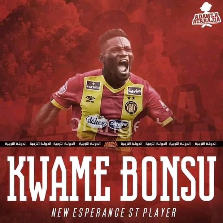 OFFICIAL: Kwame Bonsu completes Esperance de Tunis switch - Ghana Latest Football News, Live Scores, Results - GHANAsoccernet