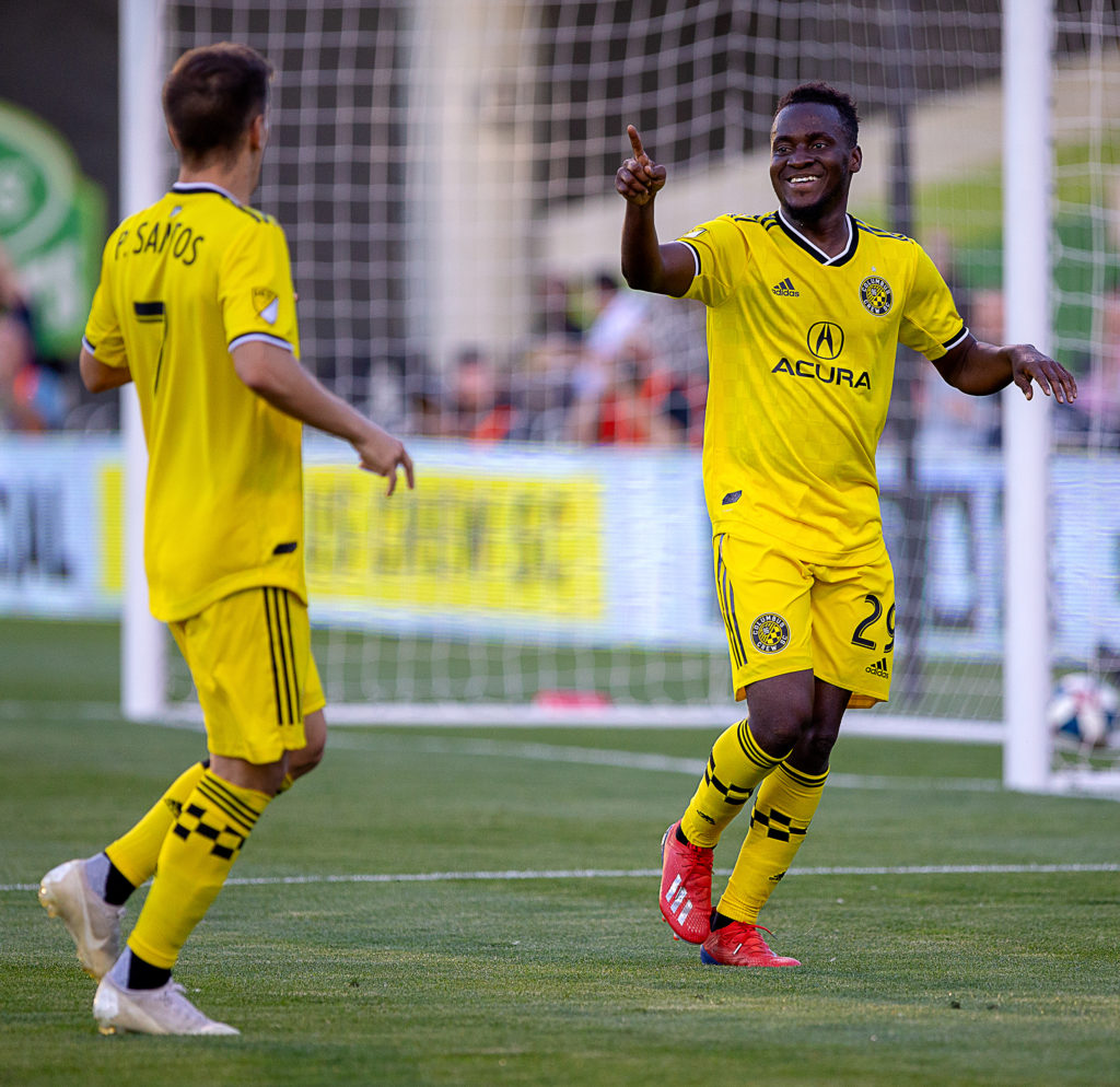 Columbus Crew forward David Accam dedicates match winning goal against Montreal Impact to fans