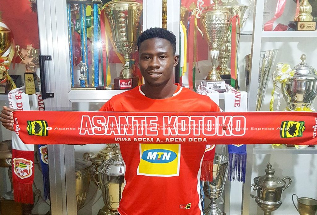 Asante Kotoko unveil talented midfielder Godfred Asiamah as SIXTH signing